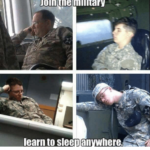 USAFA Cadets Sleeping anywhere