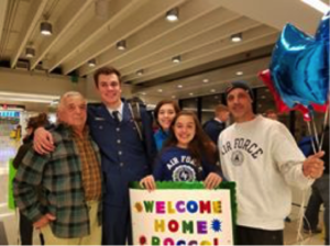 USAFA Cadet Arrival at Airport for Thanksgiving Day Break.